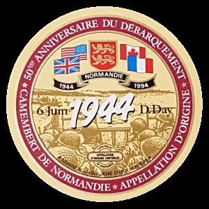 Étiquette commémorative débarquement en Normandie de 1944