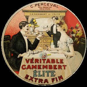 Étiquette de camembert Élite pour l'exportation