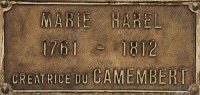 Marie Harel commemorative plaque