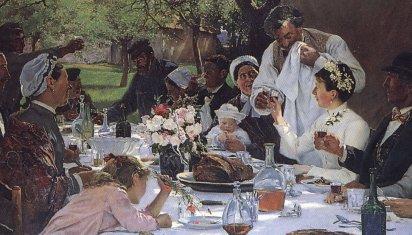 A.Fourie - Repas de noces à Yport - Rouen museum (detail)